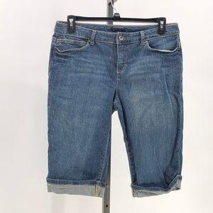 😍Tommy Hilfiger denim bermuda capri shorts womens